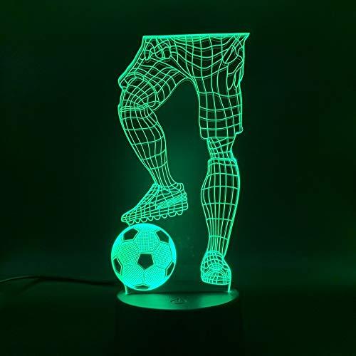 3D Led Touch Control Und Fernbedienung Konsole Licht Fußballspieler Mit Fußball Nachtlicht 16 Farbwechsel Baby Schlaf Nachtlicht