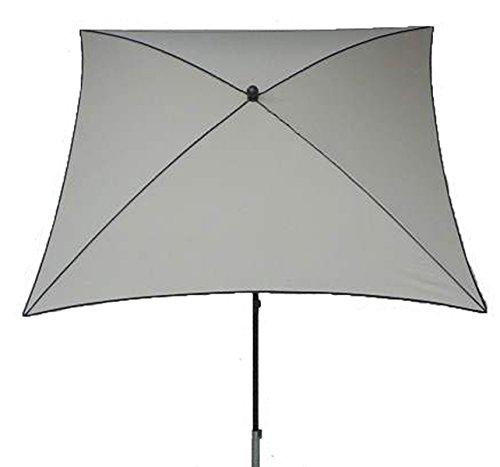 PEGANE Parasol centré, Tissu dralon Coloris écru - Dim : 210X130/4 cm