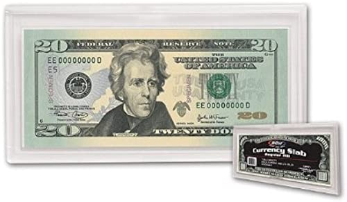 4 BCW DELUXE CURRENCY SLAB - REGULAR BILL by BCW