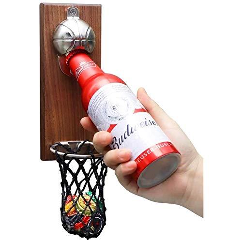 Qyvuor Red Creativa Soporte de Baloncesto Rojo Imán de Nevera Soporte de Baloncesto Abridor de Botellas de Cerveza Máquina de canastas Abridor de Botellas de Cerveza