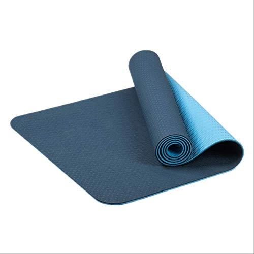 Yogamat, antislip, TPE, milieuvriendelijk, friendly fitness, gymnastiekmatten met draagriem en opbergtas voor binnen en buiten. L