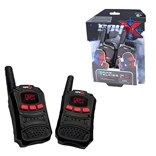SpyX Spy Walkie Talkies - Made for Small Hands and Doubles as a Spy Toy for Buddy Play. Perfect Addition for Your spy Gear Collection!