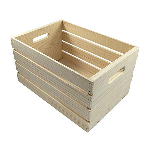 """MPI WOOD Large Crate, Natural, 18"""" x 12.5"""" x 9.5"""""""
