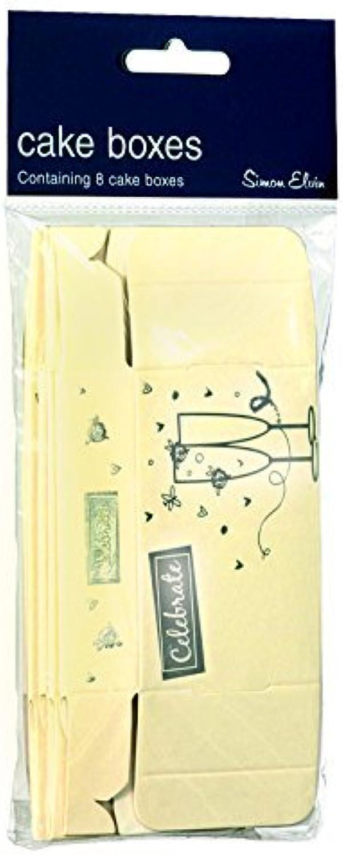 Cake Box Foil gold Cream 8 in Pack by Creative