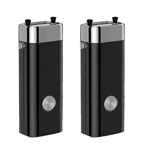 Tuneway 2Pcs Portable Negative Ion Air Purifier Necklace Pendant Student Children Necklace Air Purifier-Black