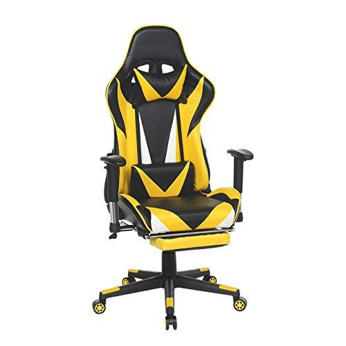 MZA Dick und weich E-Sport-Stuhl, Game Chair Accord mit ergonomischem Design, Can Be Tilted 180 ° Verstellbare Fußstützen die Rückenlehne Widen Kann, Home Office Bei der Wiedergabe von Spielen