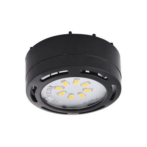 Single LED Under Cabinet Puck Light Accent Kit 120 Volts (Black)