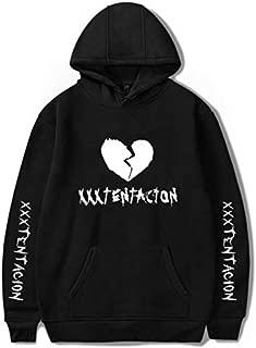 Rapper XXX Tentacion fluey hoodie Heart-broken black hoodie-XL