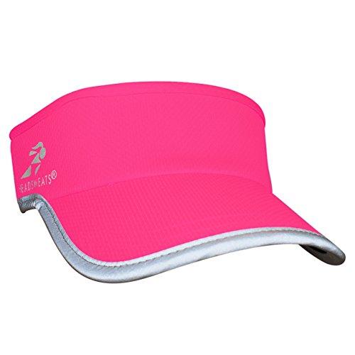 Headsweats Headsweats Reflective Supervisor High Visibility Schirmband Visor, Neon Pink, One Size