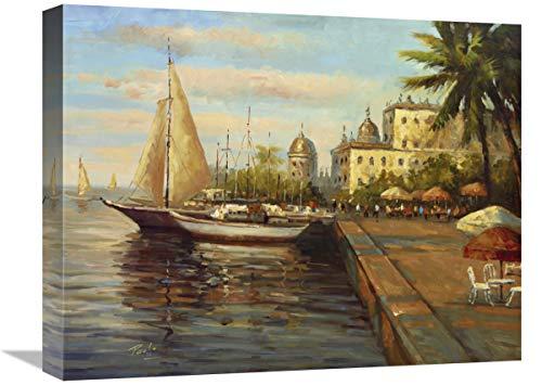 Global Gallery Lienzo de Santo Domingo Harbor, 50,8 x 40,6 cm
