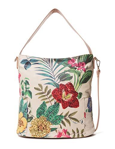 Desigual Bag Clio Yakarta Mini Women - Borse a spalla Donna, Bianco (Crudo), 16.5x31.5x33 cm (B x H T)