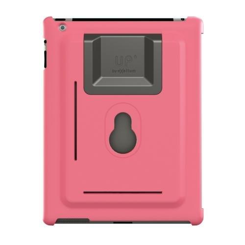 XFlat UP100P - 3in1 iPad Wandhalterung & Standfuß System für iPad2, iPad3 (New iPad) & iPad4 (iPad Retina), Farbe Schutzhülle: pink, Standfuß in 4 Positionen nutzbar für 25° oder 60° vertikal &