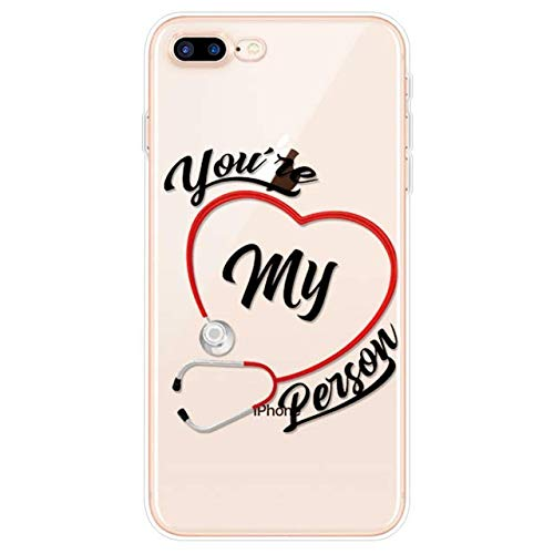 Greys Anatomy You're My Personson - Funda compatible con iPhone 5 5S TPU compatible con iPhone 6 6S 7 8 Plus compatible con iPhone 11 12 Pro XS Max XR X SE 2020