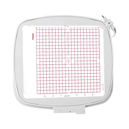 Sew Tech Embroidery Hoop for Husqvarna Viking Designer Diamond Deluxe Royale, Ruby Royal Deluxe, Topaz 50 30 20, Pfaff Creative Sensation Pro etc. Embroidery Machine, 8x8 (200x200 mm) Quilter's Hoop