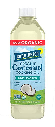 Carrington Farms gluten free, hexane free, NON-GMO, free of hydrogenated and trans fats in a BPA free bottle, liquid coconut cooking oil, unflavored, 16 Fl Oz
