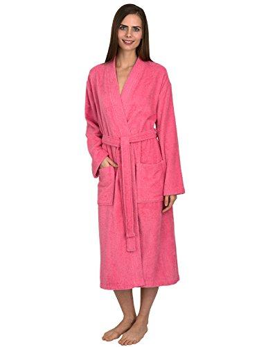 TowelSelections Women's Robe Turkish Cotton Terry Kimono Bathrobe Medium/Large Morning Glory