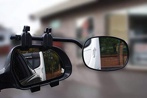 Super Steady Extra-Spiegel für Wohnanhänger-Transport, Doppelpack, universelle Passform, Glas