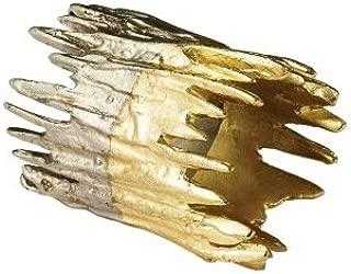 Kim Seybert Patina Napkin Ring In Gold & Silver, Set of 4