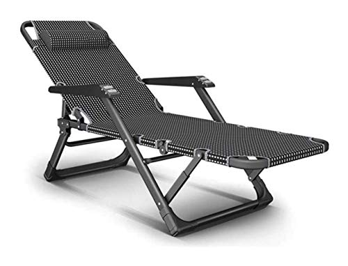 KSWD Reclining Sun Lounger Foldable Portable Zero Gravity Chair Adjustable Backrest Lightweight Camping Chair for Garden, Patio Outdoor- A