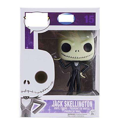 Jack Skellington Anime Figure Collectible Toy 15 # Pop ACG Título: La pesadilla antes de la acción de la Navidad Figura 9cm Muñeca de la estatua, personaje del juego de dibujos animados Decoración del