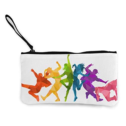 Hdadwy Expressive Dancers Dancing Characters Canvas Zippered Wallet, Personalized Makeup Bag for Women, Handbag, Suitcase Women Accessories