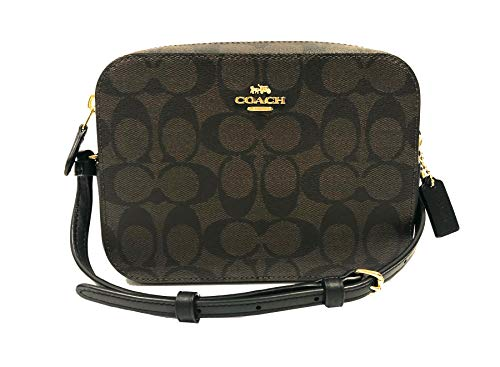 Coach Signature Mini Camera Bag (IM/Brown/Black)