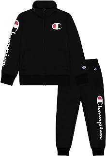 Champion Heritage Boys 2 Piece Track Suit Jacket Jogger Sweatshirt Kids Set