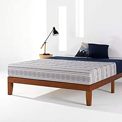 "Best Price Mattress Bed Frame, 12"" Soild Wood Platform Bed Frame w/Classic Wooden Slat (No Box Spring Needed)"