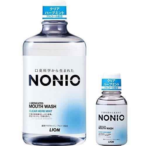 【Amazon.co.jp限定】NONIO(ノニオ) [医薬部外品] 口腔クリアハーブミントマウスウォッシュセット1,000ml +ミニリンス80ml