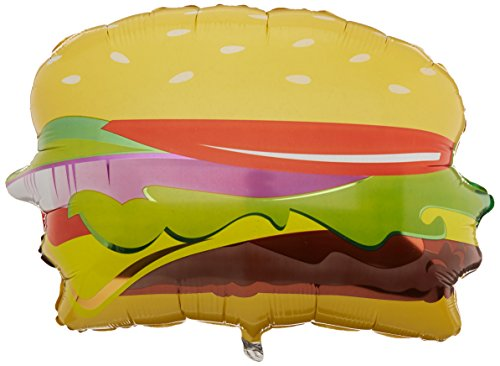 Betallic 15462 Hamburger Form Folie flach Ballon, 71,1 cm