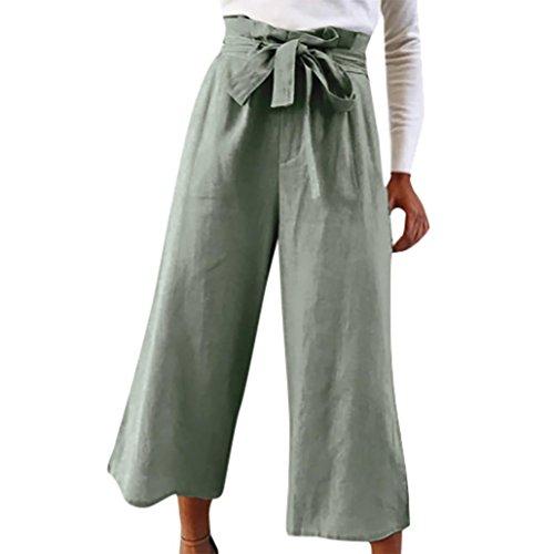 Vovotrade Palazzo broek voor dames, 9/10 lang, elastisch, hoge taille, hoge taille, hoge taille, losse broeken, casual, dagelijkse hoge taille print, vlinderdas, breedte korte broekspijpen