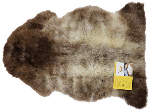 Reissner Lammfelle ungefärbtes naturbuntes Lammfell KOSA-100-GEF, Länge 100cm+, gefleckt
