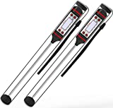 Lemontec CP1 Meat Thermometer Digital Cooking Thermometer [5.9 Inch Long Probe] with Instant Read, LCD Screen, Anti-Corrosion, Best for Kitchen, Grill, BBQ, Milk, and Bath Water, 2 Pack