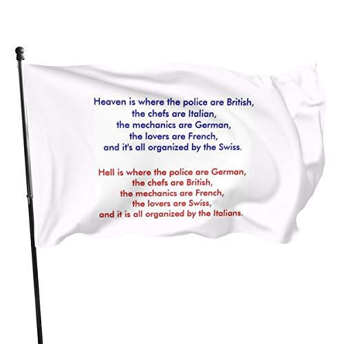 Generic Brands Heaven Is Where The Police Are Brittish, The Che. Banderas de 3 5 pulgadas