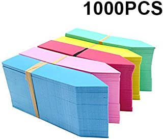 KINGLAKE 1000 Pcs 4 Inch Plant Tags Multicolor Garden Nursery Labels Plastic Pot Labels,Box of 1000