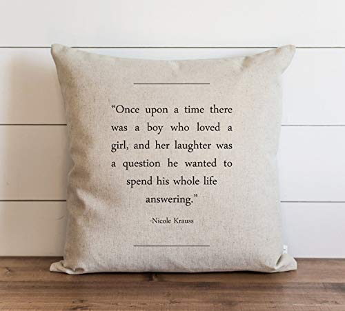 Book Collection Nicole Krauss Pillow Cover Everyday Throw Pillow Gift Accent Pillow Cushion Cover Case Pillowcase with Hidden Zipper Closure For Sofa Home Decor 24 x 24 Inches