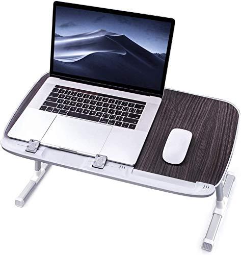 TaoTronics Table de Lit Réglable Support Ordinateur Table Pliable pour PC Lecture Travail et Repas au Lit, Bureau, Sofa, etc. (Noir)