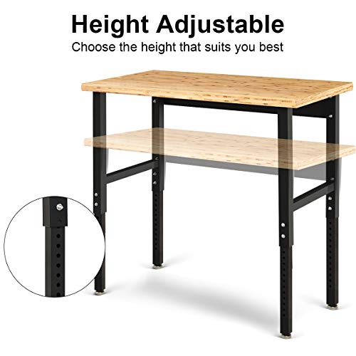 Goplus Adjustable Workbench, 48