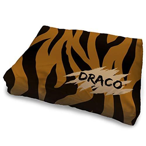 Camas para Perros Personalizada con Nombre. 7 tamaños de Cojines para Perros. Elije tu diseño Preferido y añade el Nombre de tu Perro. Tigre