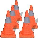 vidaXL Conos de tráfico modelos desplegables con altura de 42 cm cantidad 5 unidades
