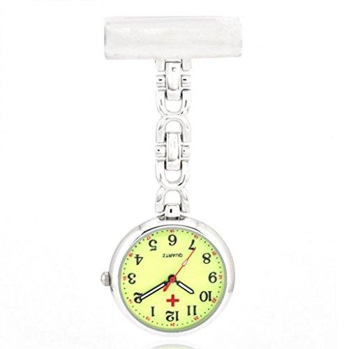 Quarz Schwesternuhr Taschenuhr Pulsuhr Brosche Uhr Krankenschwester Uhren Leuchtzifferblatt