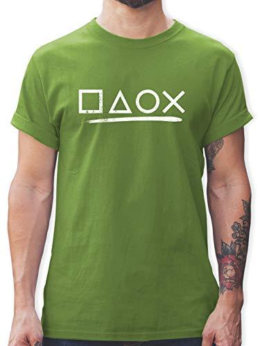 Nerds & Geeks - Gamer - XL - Hellgrün - Gamer Tshirt - L190 - Tshirt Herren und Männer T-Shirts
