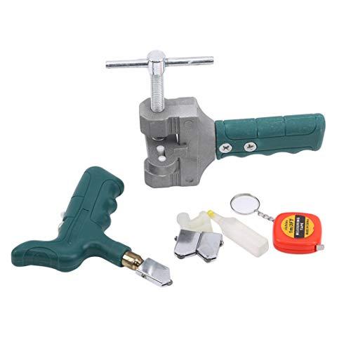 SJHFG Kit de herramientas de corte de azulejos de cerámica con soporte de mano, cortador de botellas de vidrio