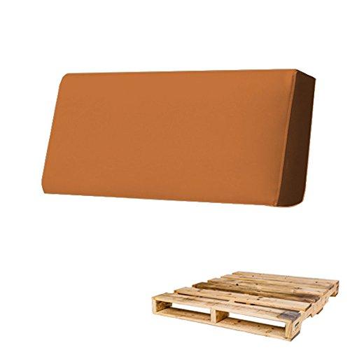 Arketicom Pallet Cojin Respaldo Sofa Euro Palet Polipiel con Funda Desenfundable y...