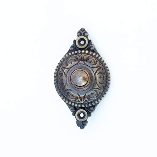 Antikas | Türklingel aus Messing in Jahrhundertwende-Design | antik wirkende Klingel für den Eingang