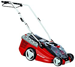 Einhell Cordless Lawnmower GE-CM 36 LiM Power X-Change (Lithium Ion, 2 x 18 V, 36 cm cutting width, 40 l Fangbox, mulching function, including 2 x 3,0 Ah battery and 2 x charger)