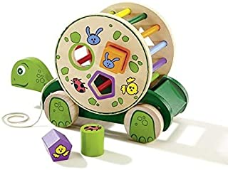 Playtive Junior Wooden Pull-Along Turtle with Removable Game Drum ~ SB130