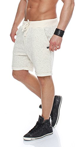 JACK & JONES Herren jjorBOOST Sweat NOOS Shorts, Grau (Treated White Fit:Comfort FIT Melange), 52 (Herstellergröße: L)