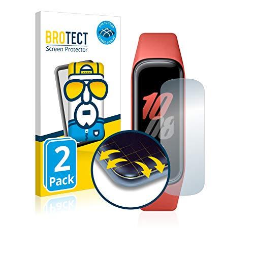 brotect Pellicola Copertura Completa Compatibile con Samsung Galaxy Fit2 (2 Pezzi) Full-Cover 3D Curvo