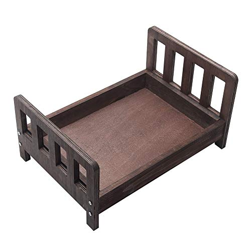 Baby Photography Props Wooden Bed, Detachable Cot Newborn Photo Shoot Posing Furniture Background, Newborns Doll Bed for Photo Studio Home Accessories
